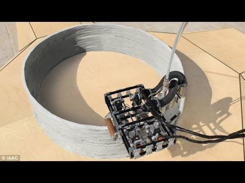 No job is too big for these tiny robots! Clip-on machines 3D print BUILDINGS like giant coil pots