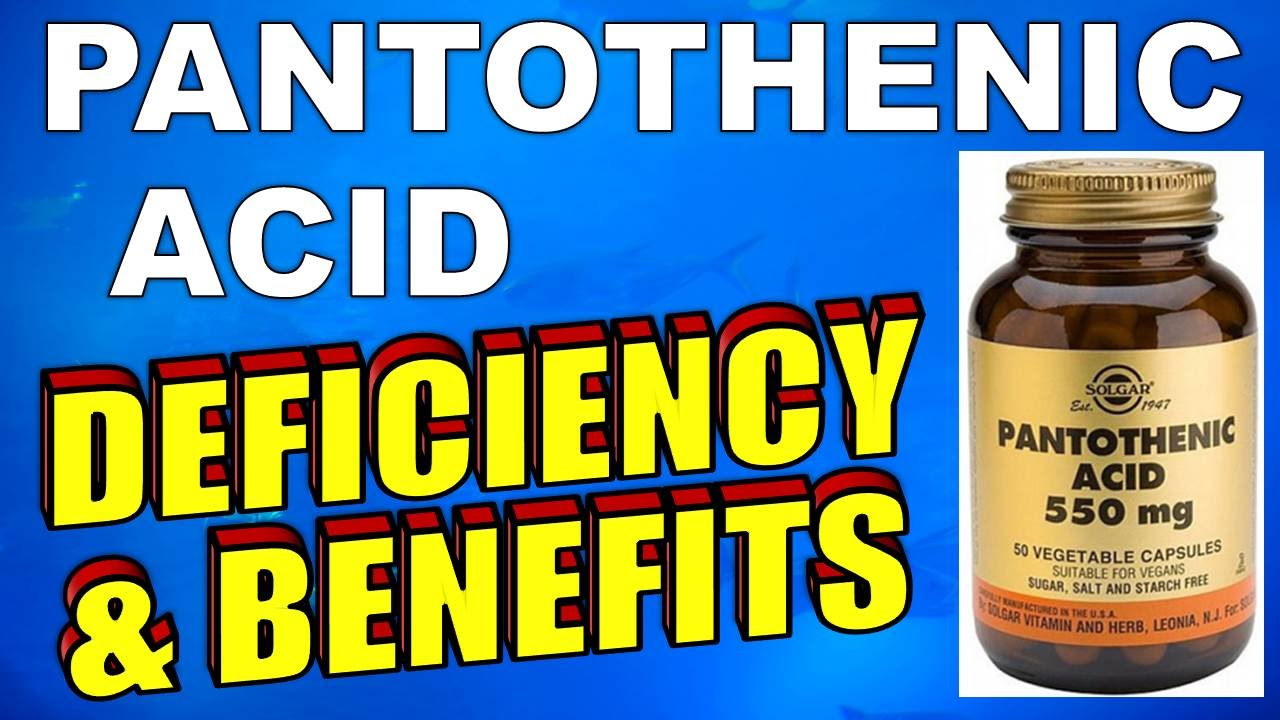 Pantothenic acid benefits and side effects