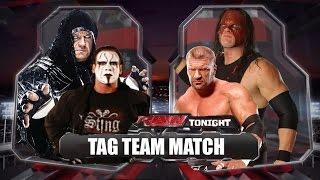 WWE 2K15 PC : The Undertaker & Sting vs.Triple H & Kane - Tag Team Match