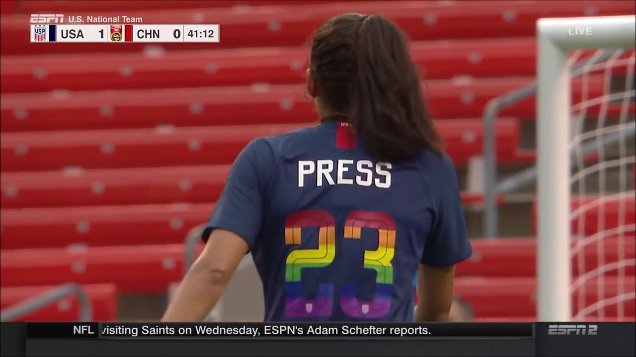 Christen Press vs China (6/12/18) Every Touch 100 Caps!