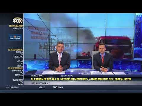 Se incendió camión de Necaxa
