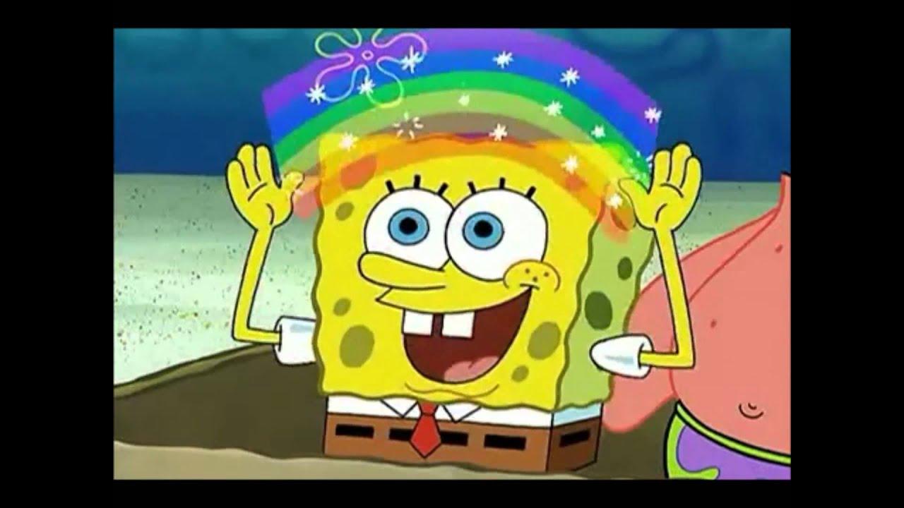 Spongebob rainbow gif
