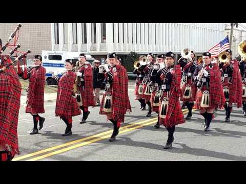 GOVERNOR LIVINGSTON HIGH SCHOOL HIGHLANDER PIPE & DRUM @ 2017 UNION SAINT PATRICK's DAY PARADE