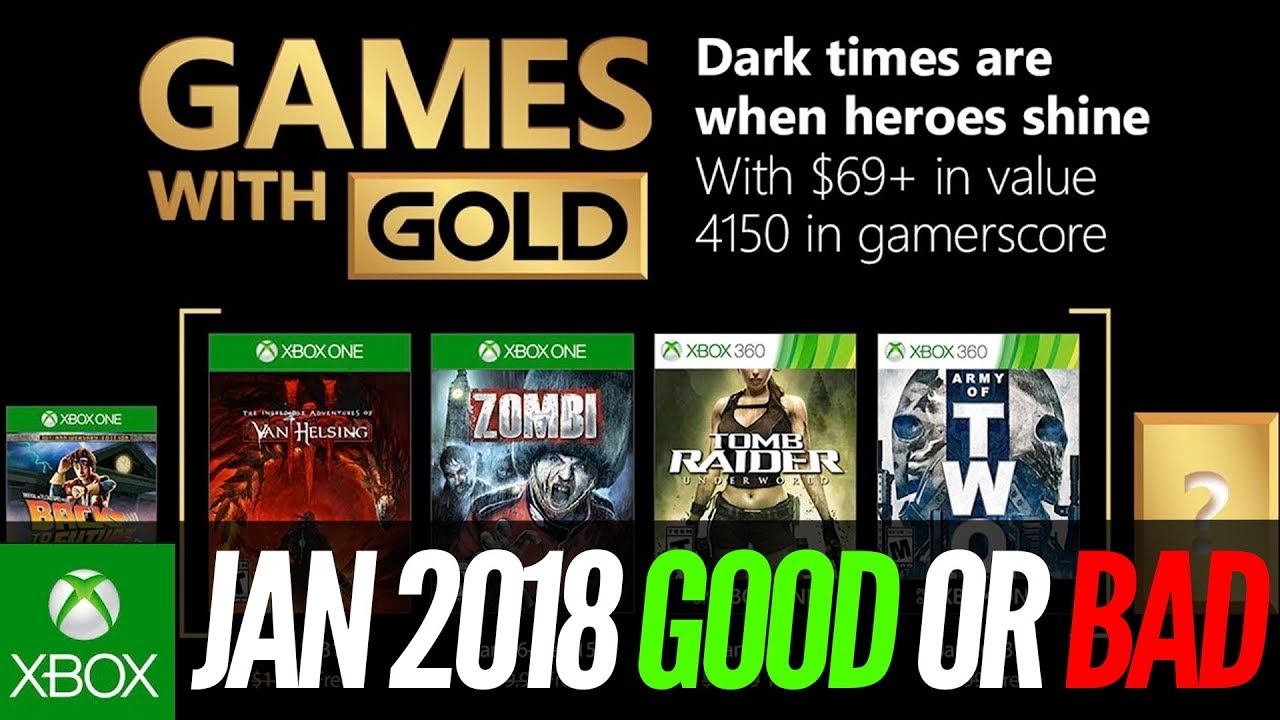 Xbox Games With Gold January 2018 Review Xbox One Xbox