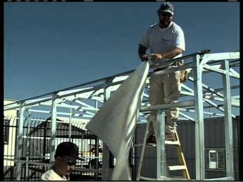 Metal Building Installation Step 14 Radiant Barrier