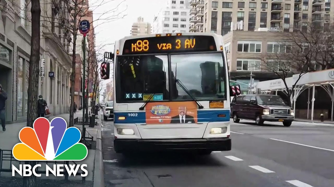 Bus Drivers Keep New York City Moving During Coronavirus Pandemic | NBC Nightly News