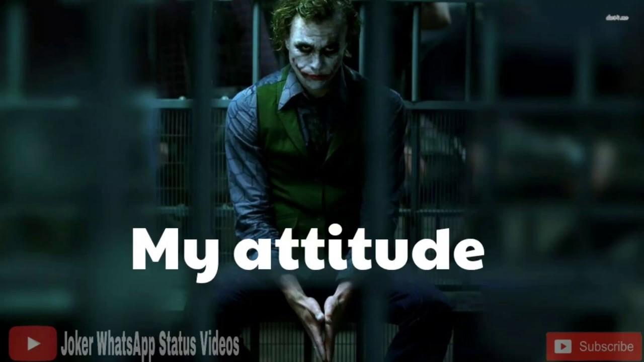 Attitude WhatsApp Status WhatsApp Mood off Status Video Joker Mood Off Status Sad WhatsApp Status