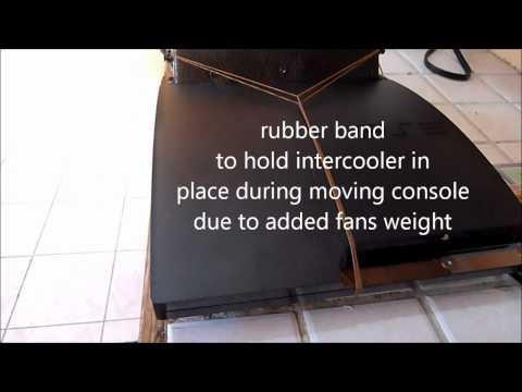 Nyko intercooler fan modification Ps3 slim (final product)
