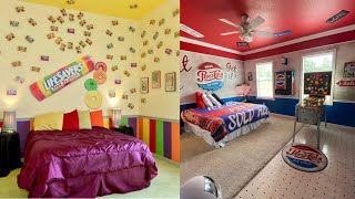 The Candy \u0026 Soda Themed House | The Sweet Escape Airbnb \u0026 VRBO With A  M\u0026M's Themed Bedroom
