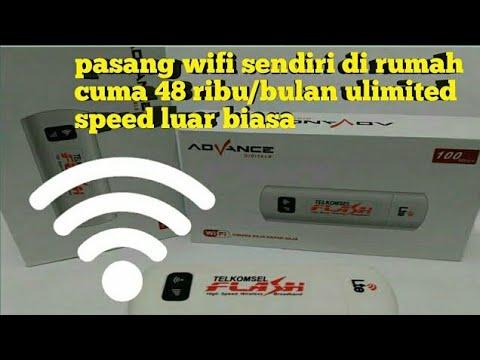 cara pasang wifi sendiri dirumah cuma 48 ribu/ bulan unlimited lagi....!!!
