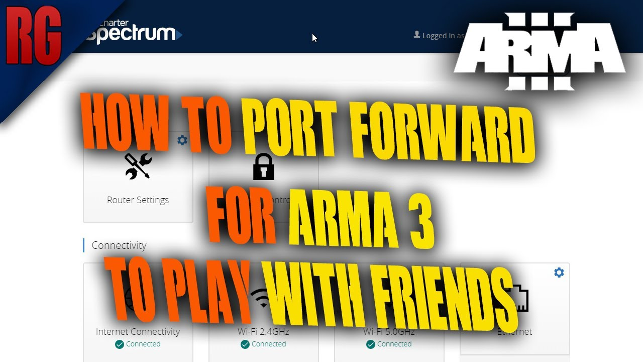 Arma 3 Tutorial - How To Port Forward So You Can Play With Friends - (Very  Easy)