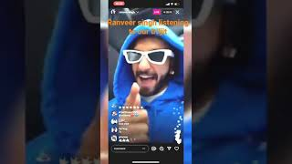 Ranveer singh listening to our diljit dosanjh (lover song)