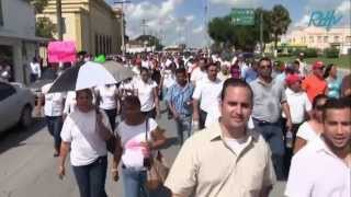 Auto embiste a Maestros en manifestacion, Matamoros Tamaulipas 11Sept2013