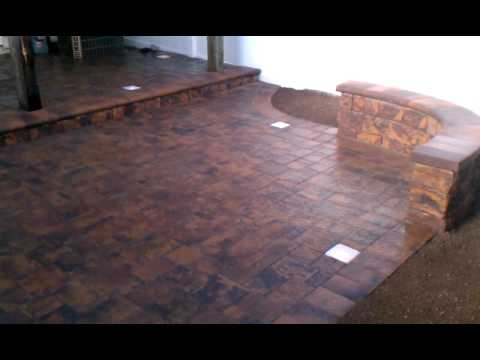 Premium Patio Pavers With Siting Wall And Low Voltage Lights
