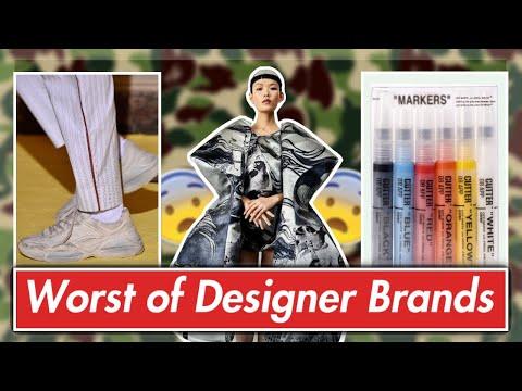 WORST of Designer Clothing (ft. Supreme, Gucci, Off-White, etc.)