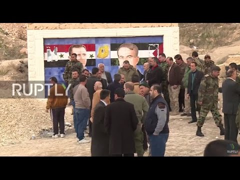 Syria: Militants continue to lay down weapons in Syria's Wadi Barada