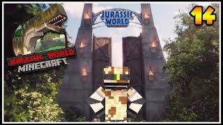 O portão do PARQUE dos DINOSSAUROS! - MINECRAFT JURASSIC WORLD #14