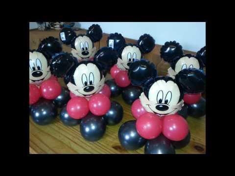 El Mundo Del Globo-Decoracion De Mickey--
