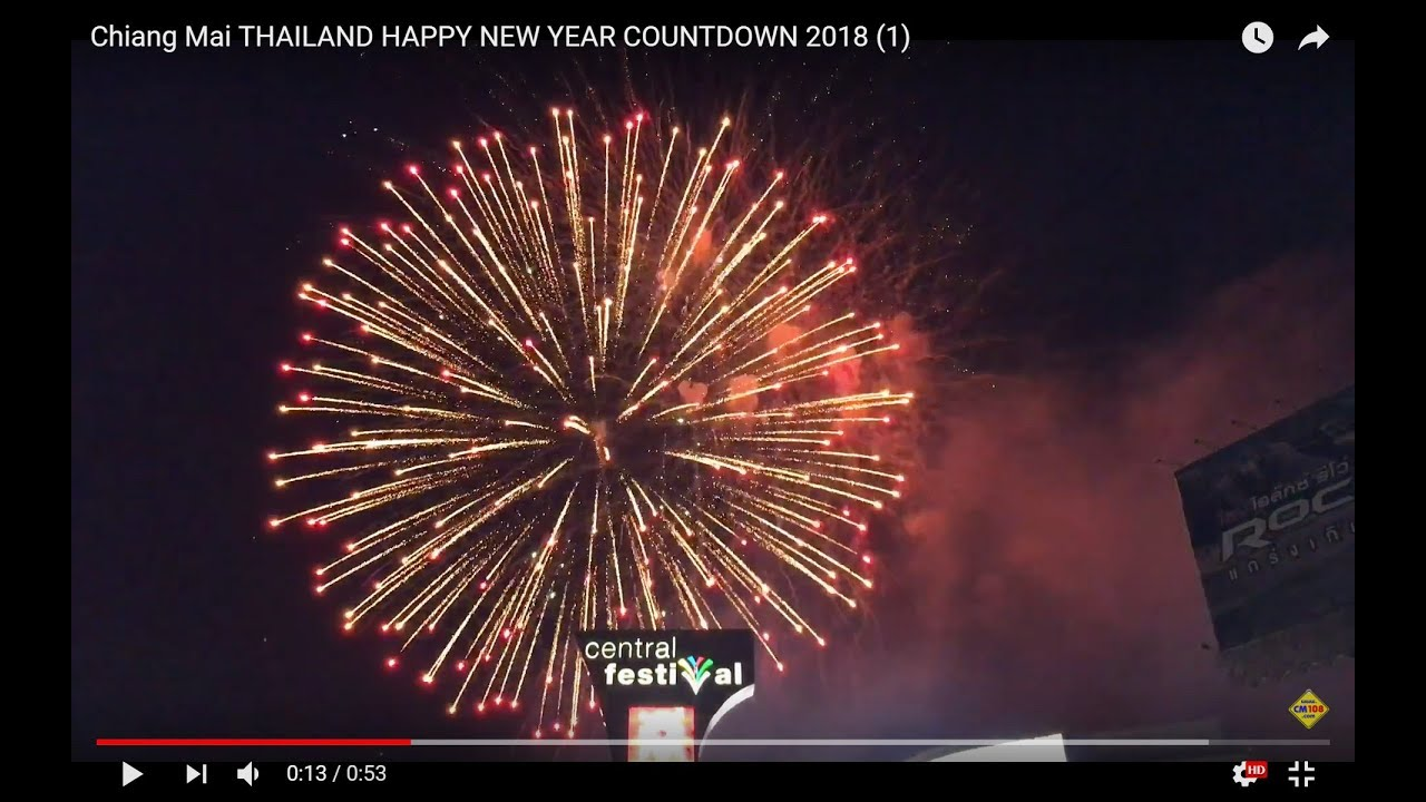 chiang mai thailand happy new year countdown 2018 1
