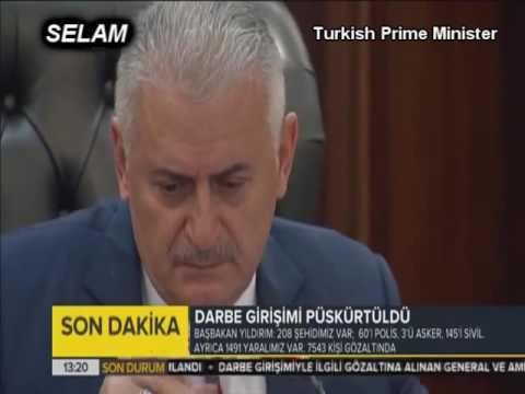 Turkish Prime Minister Binali Yildirim crying