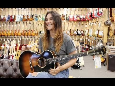 """Wow!!! Sinead Burgess singing """"Ramblin Man"""" with our 1950's Gibson LG 3/4 at Norman's Rare Guitars"""