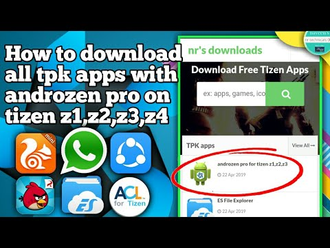 How to download all tpk app and androzen pro on tizen | install androzen  pro on tizen