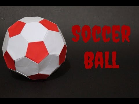How To: Origami Soccer Ball Size 3 (Red-White)