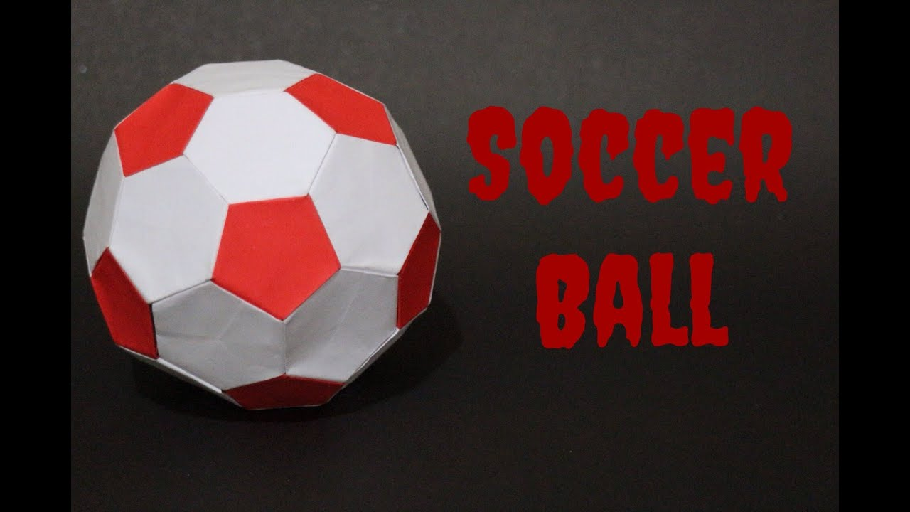 how to origami soccer ball size 3 redwhite youtube
