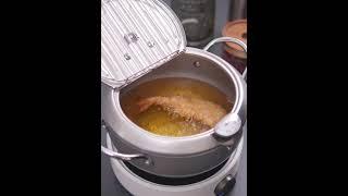 튀김 프라이 온도 미니 소형 냄비 튀김용 튀김기