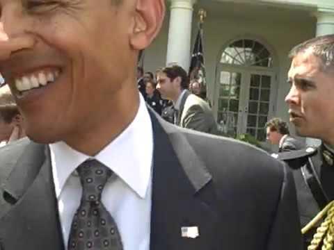 President Obama says hi to Meadow Hill Middle School Missoula Montana at White House SaveYouTube com