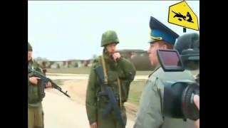 Крым. За нами Америка! С такими криками на автоматы идут Украинские военные