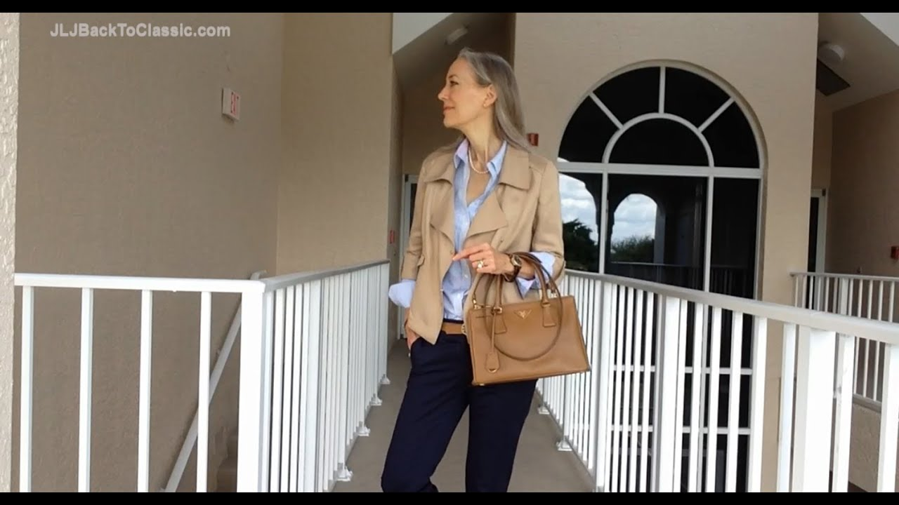 Classic Fashion Over 40 Over 50 Ann Taylor Jacket Land 39 S End Shirt Prada Tote Leopard Flats