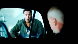 Arnold Schwarzenegger smashing cars door