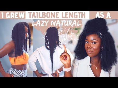 HOW I GREW MY NATURAL HAIR TO TAILBONE LENGTH AS A LAZY NATURAL | Obaa Yaa Jones