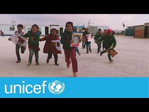 Portraits from US students give Syrian children hope | UNICEF