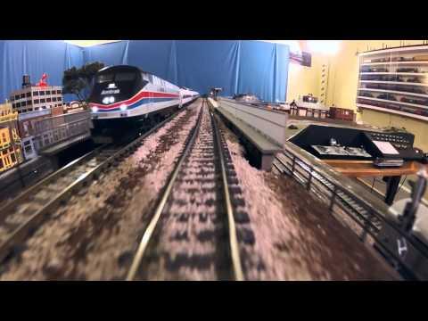 Amtrak Commuter Train POV HO Scale HD
