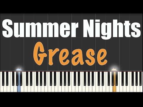 Summer Nights - Grease - Piano Tutorial [MIDI and Sheets in Description]