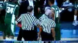 NCAA 2009 Final Four FIGHT!! Michigan State vs UConn 04.04.09