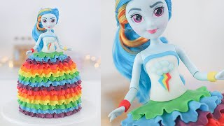 EASY RAINBOW DASH DOLL CAKE  My Little Pony  Equestria Girls  Tan Dulce