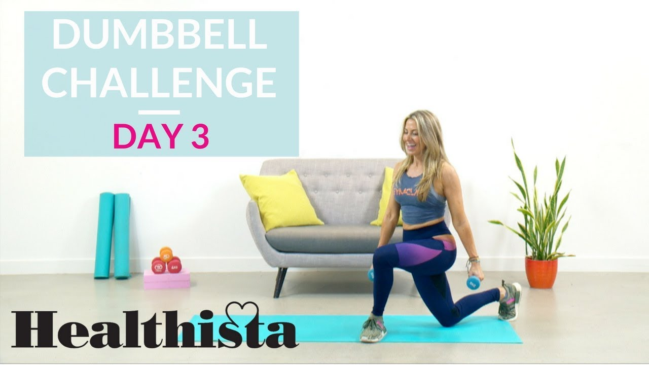 30 Day Dumbbell Workout Challenge   Lower body   Day 3
