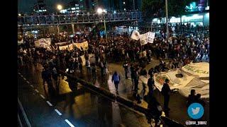 Marchas estudiantiles colapsaron varias zonas de Bogotá| Noticias Caracol