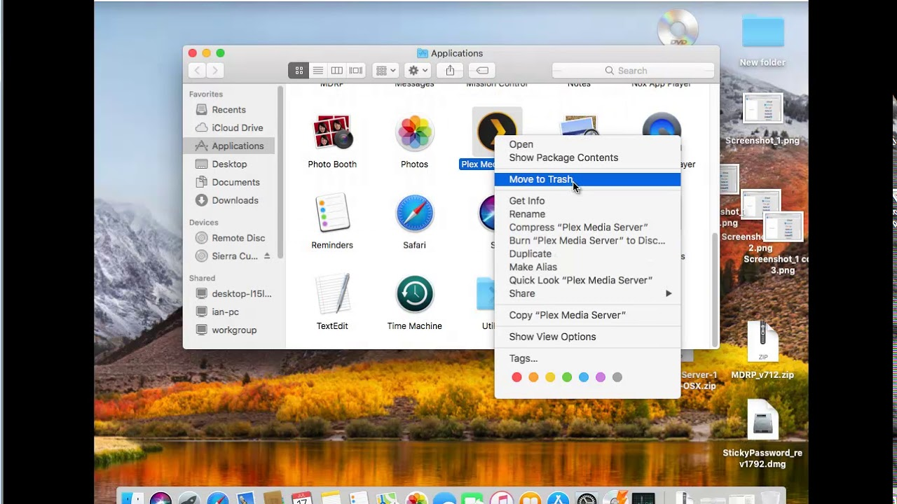 Uninstall Plex Media Server on macOS High Sierra