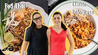 Marion & Silvia Make Traditional Pad Thai & Classic Bolognese | WOK x POT Ep 5