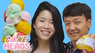 Mike Chen and Inga Lam Test Out Viral Ice Cream Creations | Coneheads