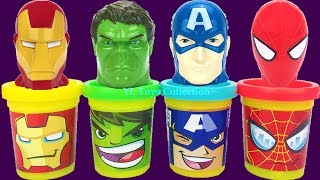 Play Doh Marvel Avengers with Iron Man Hulk Captain America and Kitchen Creations Molds Surprise Toy