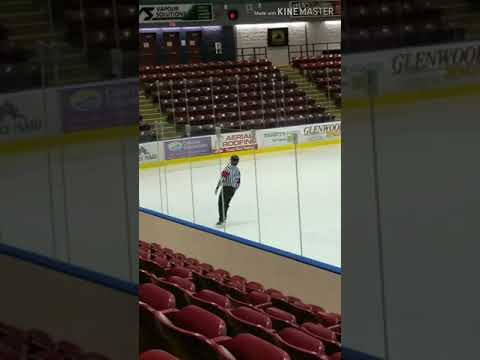 Joey Brooks - Dancing Referee Steals the Spotlight at Hockey Game