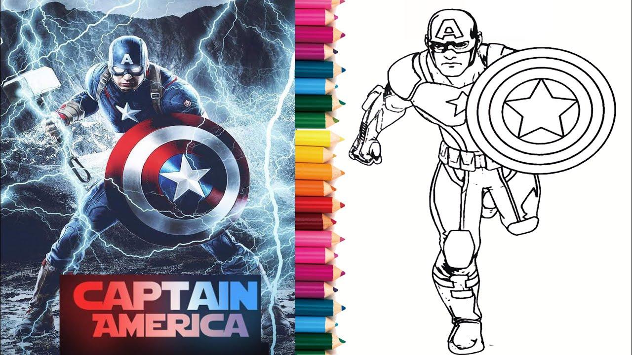 Tô màu Siêu Anh Hùng 2 - Captain America Coloring 2    How to Color Captain  america Coloring   tô màu siêu nhân   Hướng dẫn vẽ tranh đẹp nhất - Việt  Nam Brand