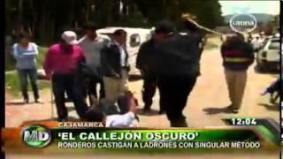 """Cajamarca: ronderos castigaron a ladrones con """"lluvia de latigazos"""""""