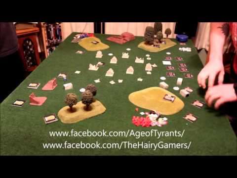 The Hairy Gamers play Age of Tyrants - Junkers vs Viridia