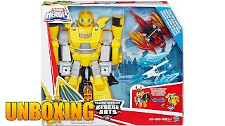 Playskool Heroes Transformers Rescue Bots Knight Watch Bumblebee Caballero Guardian